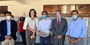 Ministro de Educación Raúl Figueroa visitó el Liceo Mixto Bicentenario de Excelencia Los Andes